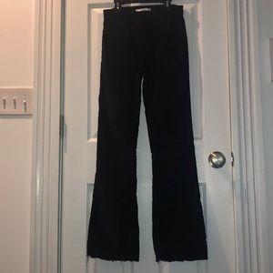 Velvet bootcut high rise pants
